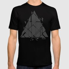 PLACE Triangle V2 Black Mens Fitted Tee MEDIUM