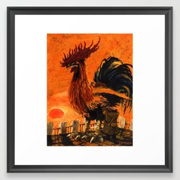Kasimir Malevich. morning ride Framed Art Print