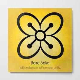 Bese Saka - Adinkra Art Poster Metal Print