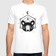 Moon Bear Black White SMALL Mens Fitted Tee