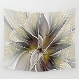 Floral Abstract, Fractal Art Wall Tapestry