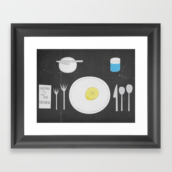 Everything Lemon - Analog Zine Framed Art Print