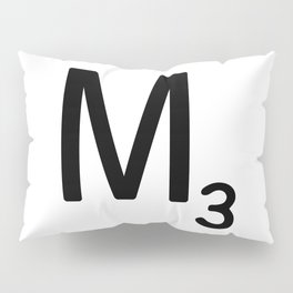 Letter M - Custom Scrabble Letter Tile Art - Scrabble M Initial Pillow Sham