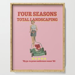 Four Seasons Total Landscaping (Pink) Serving Tray