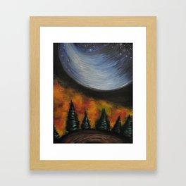 Dusk in the Taiga Framed Art Print