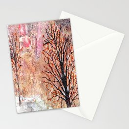 Blood Moon Skies over Snowy Dewdrop Holler Stationery Cards