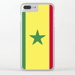 Senegal flag emblem Clear iPhone Case
