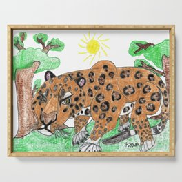 Indian Leopard Serving Tray