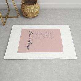 Love Always #inspirational #minimalism Rug