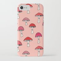 mushroom iPhone & iPod Cases featuring Mushroom by Abby Galloway