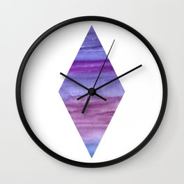 Ultraviolet rhombus — trendy color 2018 Wall Clock