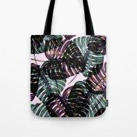 leaf Tote Bags featuring Leaf by Burcu Korkmazyurek