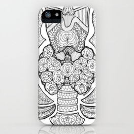 Thyroid gland anatomy with love iPhone Case