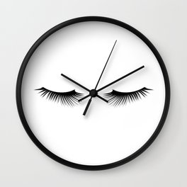 Black And White Lashes Wall Clock