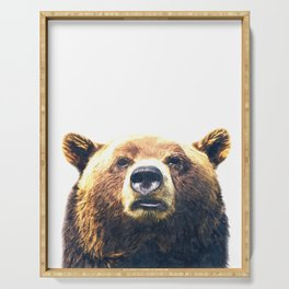 Bear portrait Serving Tray