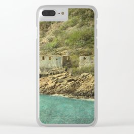 St. Thomas Ruins Clear iPhone Case