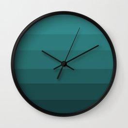 Winter Dark Blue Turquoise Wall Clock