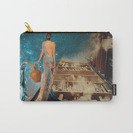 Aquarius and her Books Carry-All Pouch