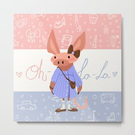 Little Missy  Aardvark in France! Metal Print