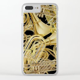 Brass Musical Instruments Clear iPhone Case