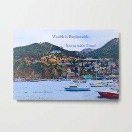 """""""Catalina Harbor""""/ """"Time"""" Metal Print"""