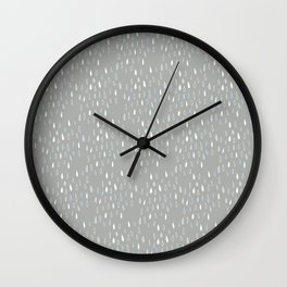 Raindrops on grey Wall Clock