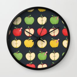 Apple Pattern Wall Clock