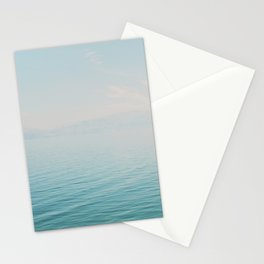 Nautical simple photo. Blue water landscape. Minimalist nature photography. Sea decor Stationery Cards
