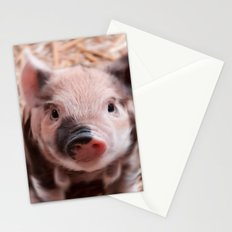 Sweet piglet Stationery Cards