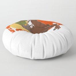 Cowboy Riding Horse Floor Pillow