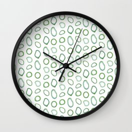 Onion rings pattern Wall Clock