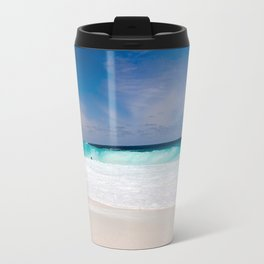 Tropical Turquoise Waves Travel Mug