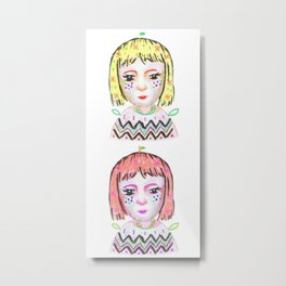 Mandarin Orange Girl Metal Print