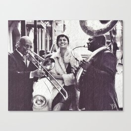 the wOman & Band Canvas Print
