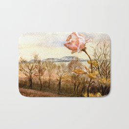 Autumn at the Lake Balaton Bath Mat
