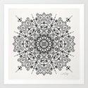 Moroccan Mandala – Black Ink by catcoq