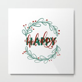 Holiday Vibes Metal Print