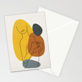 Minimal Line Art Woman Figure II Stationery Cards