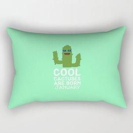 Cool Cactuses born in JANUARY T-Shirt D3uut Rectangular Pillow