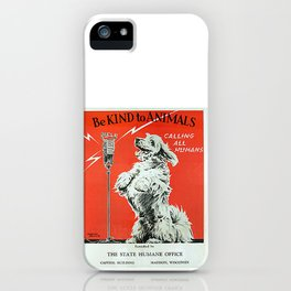 Be Kind To Animals 6 iPhone Case
