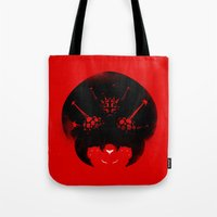 metroid Tote Bags featuring Super Metroid by Ian Wilding