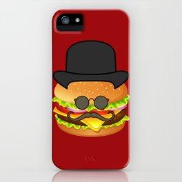 Gentleman Burger – Funny – Hipster Humor iPhone Case