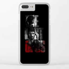 The Last of Us - black blood edition Clear iPhone Case