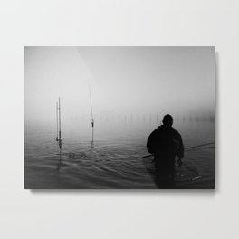 a bad day fishing is better then a good day at work. Metal Print