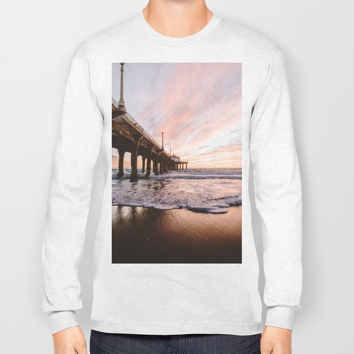 MANHATTAN BEACH PIER Long Sleeve T-shirt