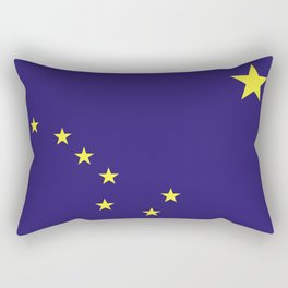alaska state flag united states of america country Rectangular Pillow