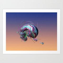 CRÉATURE ÉTRANGE 14 Art Print