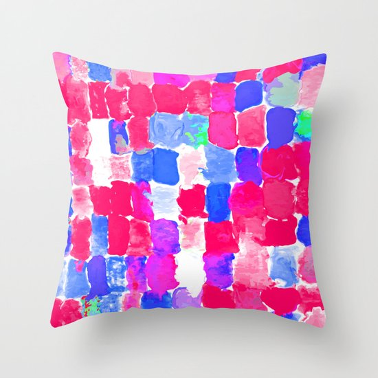Painted Swatches: Freedom Throw Pillow