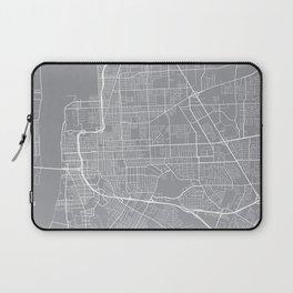 Baton Rouge Map, Louisiana USA - Pewter Laptop Sleeve