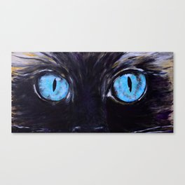 Sass: The Eyes of a Long-Haired Cat Canvas Print